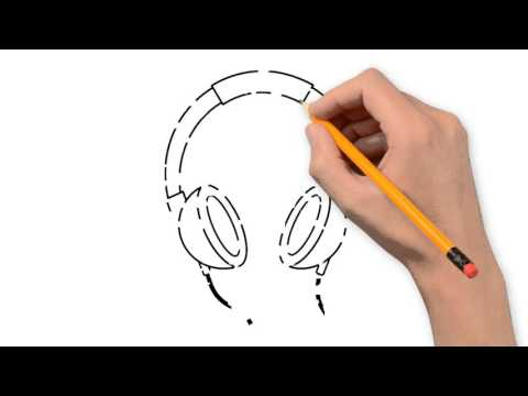 Drawn microphone singing Step things headphones step YouTube