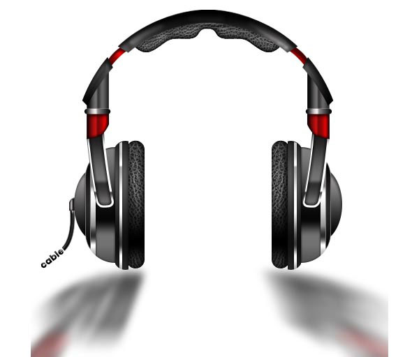 Drawn headphone Teach Photoshop Create create That