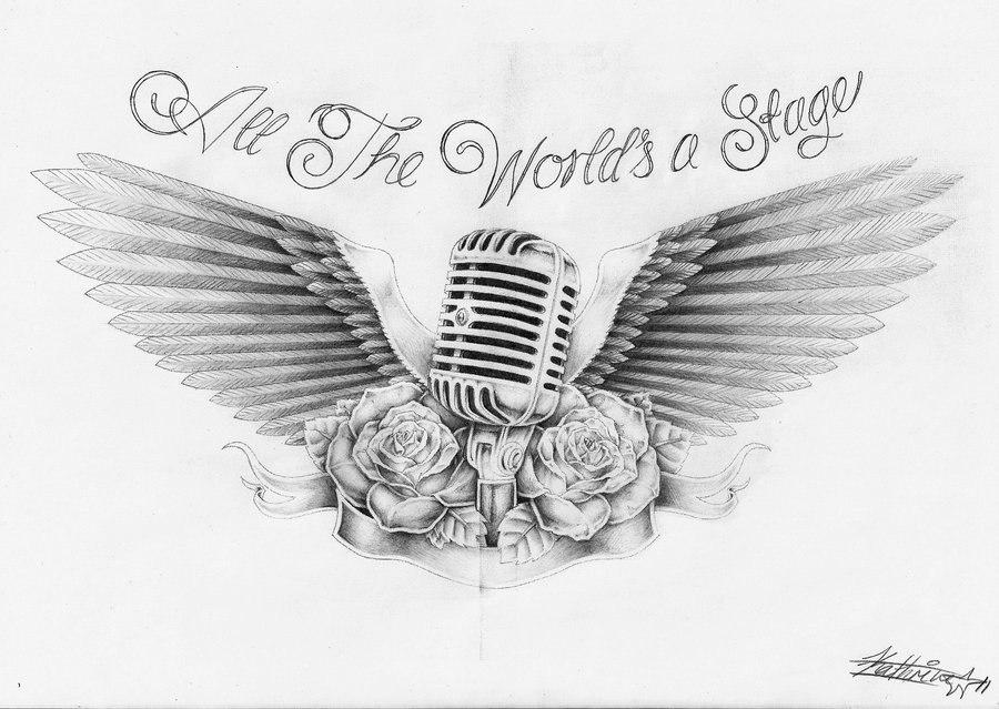 Drawn microphone doodle Pinterest ideas Wings 25+ Sketch