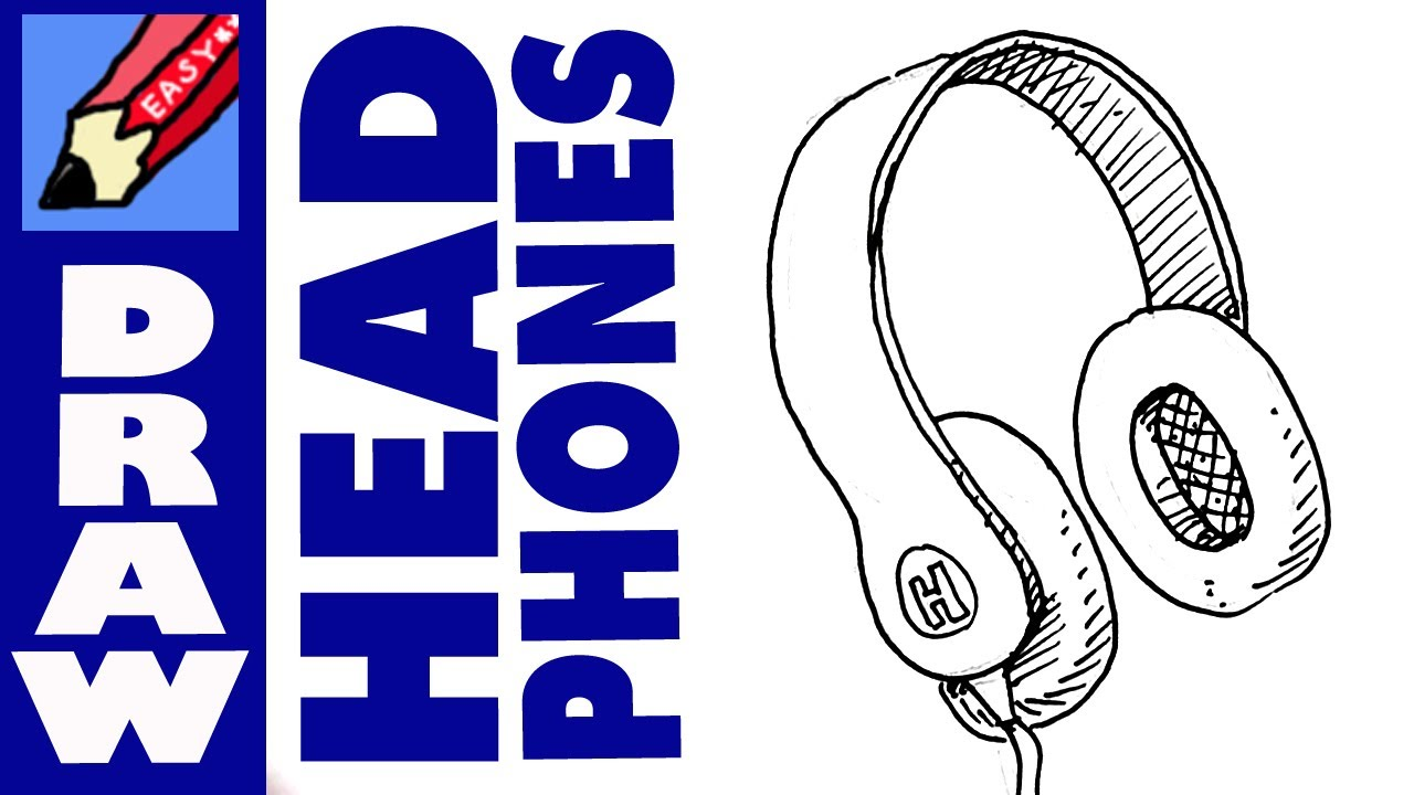 Drawn headphone Real to  How pair