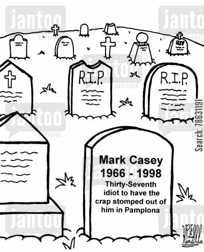 Drawn headstone Cartoons idiot of out epitaph