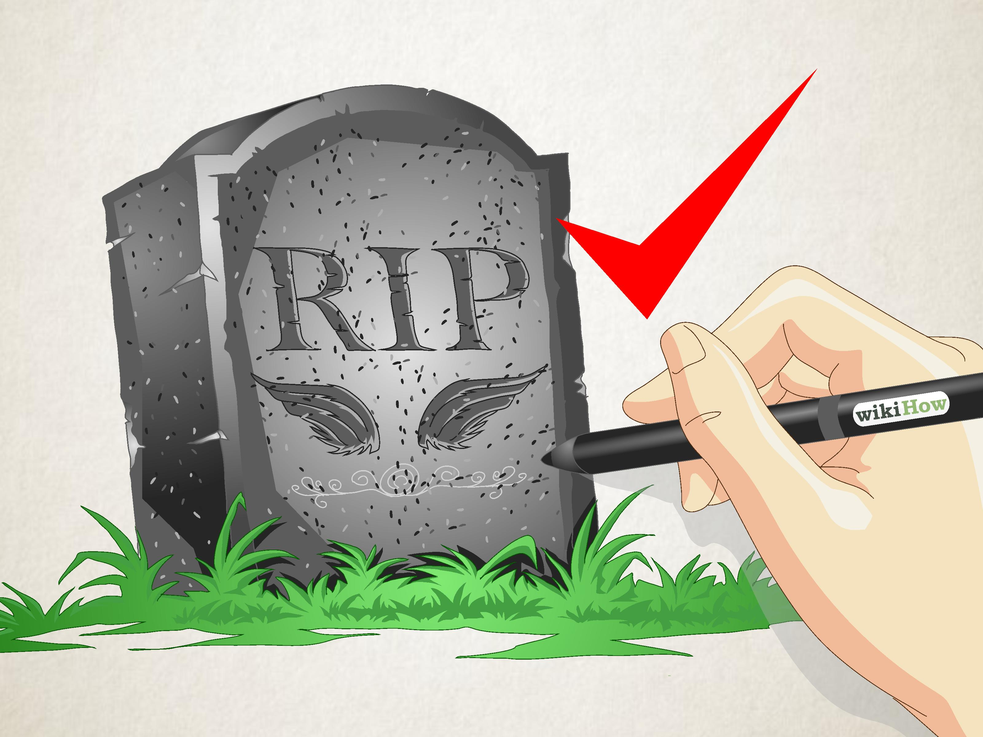 Drawn tombstone horror Gravestone: Pictures) 11 wikiHow Draw