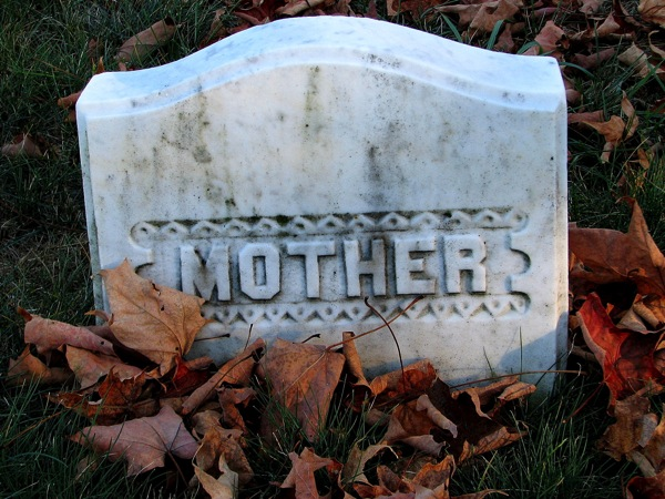 Drawn headstone death Headstone Leary Kate Mother death