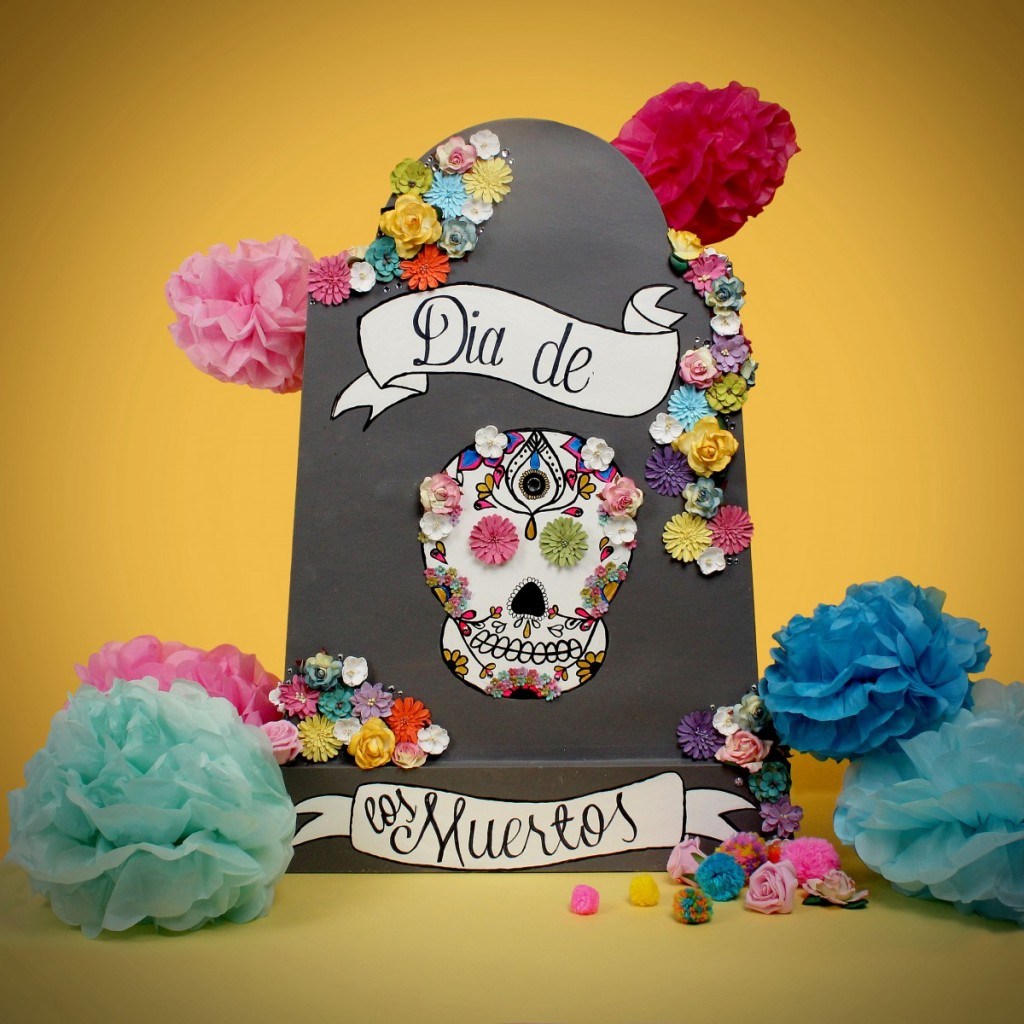 Drawn headstone dia de los muertos #halloween #papermache Crafty #decoration Hobbycraft
