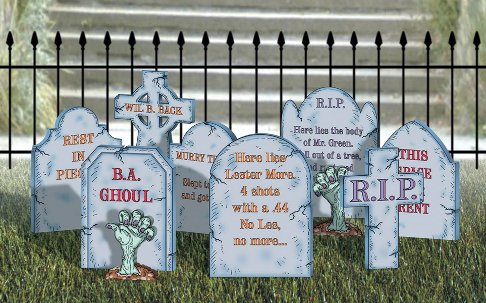 Drawn tombstone halloween decoration Decorations CNC Halloween CNC and