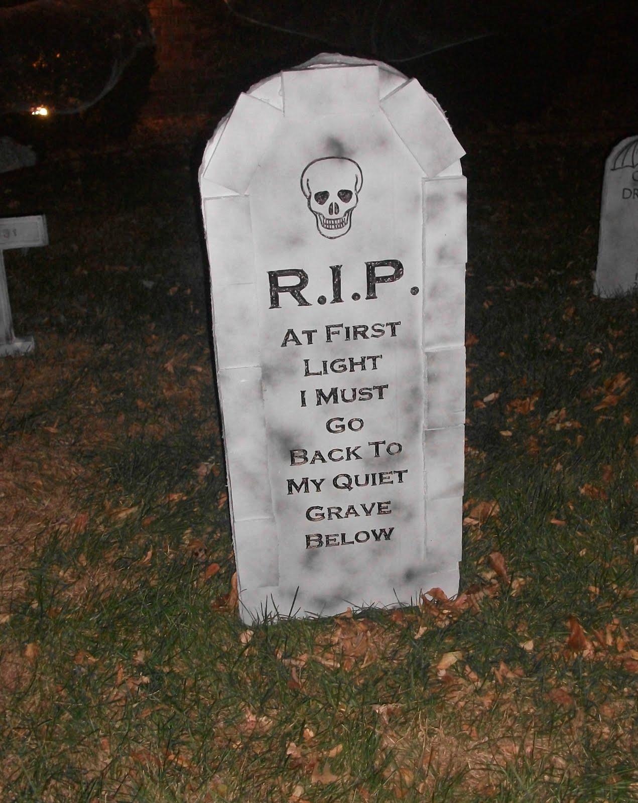 Drawn tombstone halloween decoration Days Crafty Thrifty 31