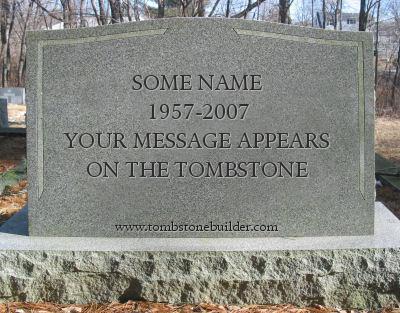 Drawn headstone here lies Custom Tombstone  Maker