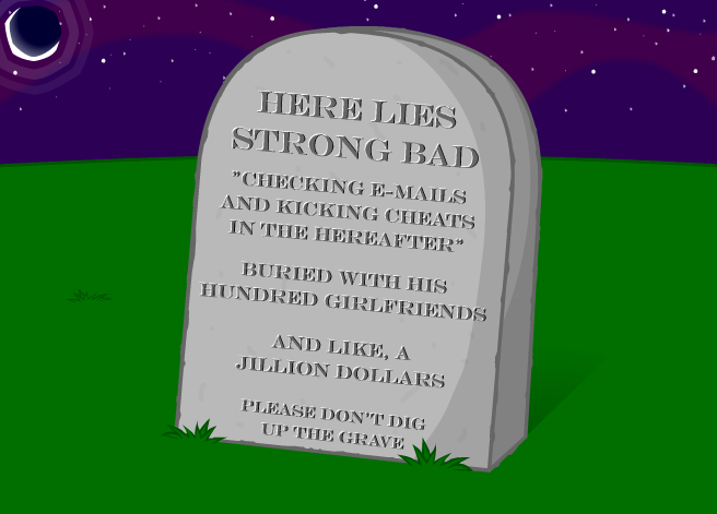 Drawn headstone here lies Humor Tropes grave this ◊