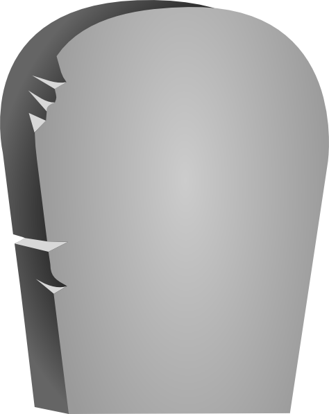 Headstone clipart blank Tombstone com royalty Clker at