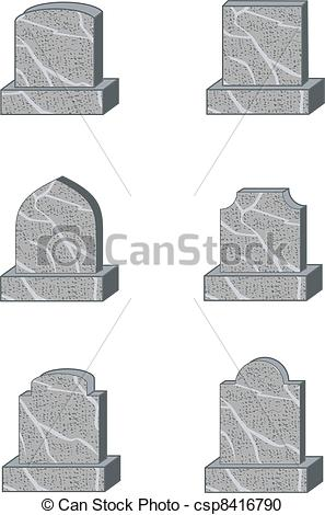 Drawn headstone vector Standard Clipart shapes headstone six