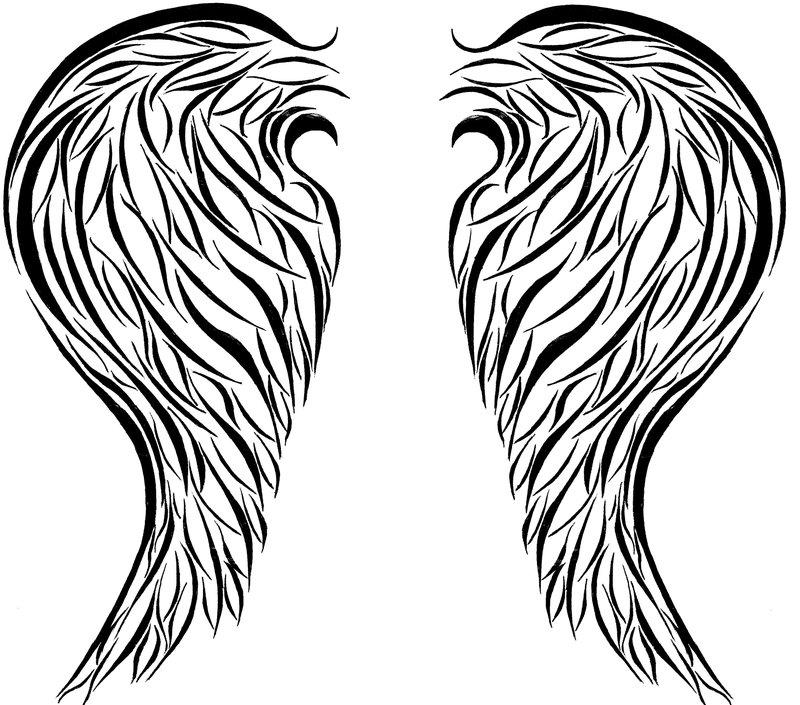 Drawn hearts angel Drawings  Free Angel Simple