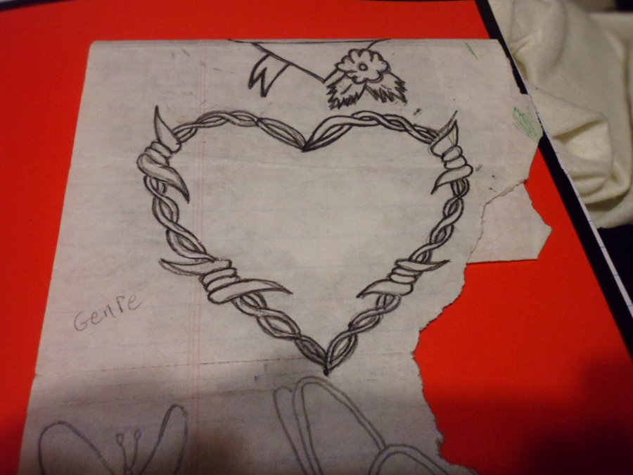 Drawn hearts barbed wire On Barbed TheGreatWAB Heart Barbed