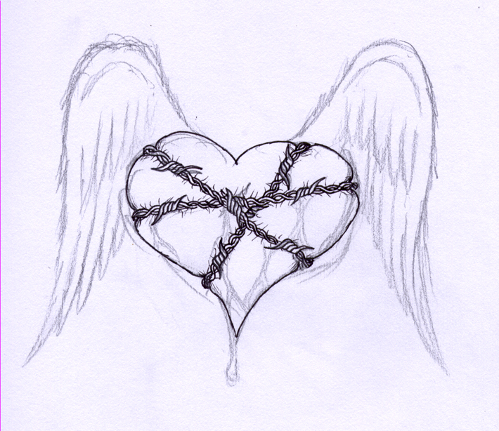 Drawn hearts barbed wire Barbwire barbwire virusoverload heart by