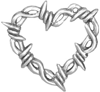 Drawn hearts barbed wire Barbed Hand Silversmiths & Hammer