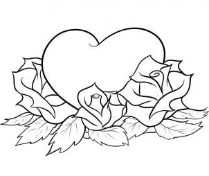 Drawn rose fancy heart How Pinterest tattoo and Step