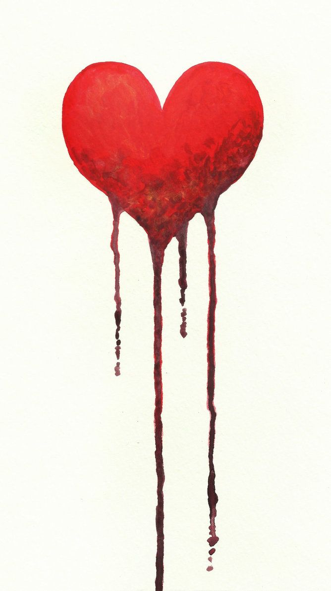 Drawn red rose bleeding love Pinterest heart ideas Search Google