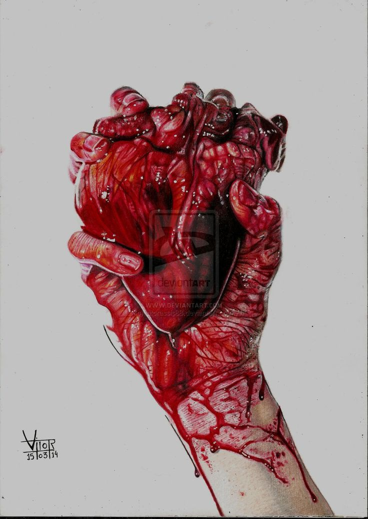 Drawn heart blood On Pinterest drawing heart The