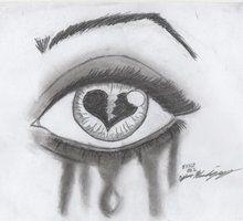 Drawn broken heart depression #3