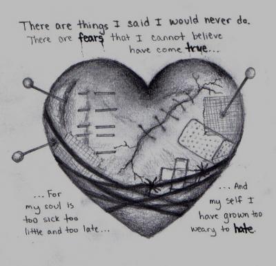 Drawn sad sad heart Ideas Drawings 25+ on pinterest