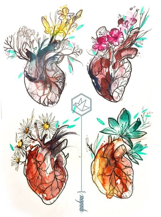 Drawn hearts art #9