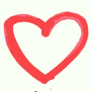 Crayon clipart heart Clker Heart Hand art A