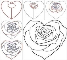 Drawn rose creative To love draw to a