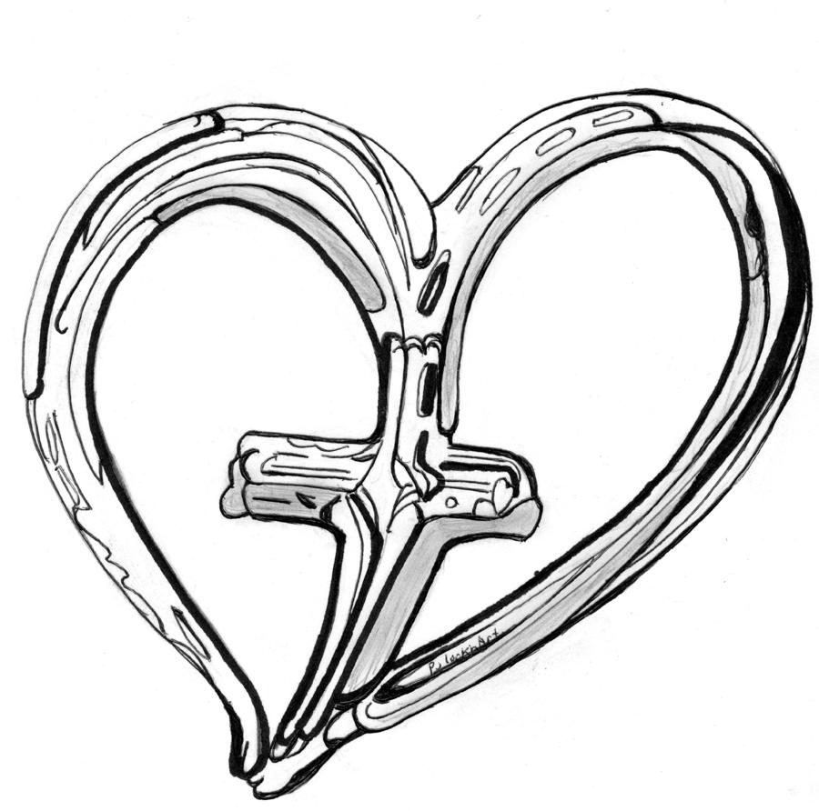 Drawn hearts crosses Pictures Crosses With Download Clip
