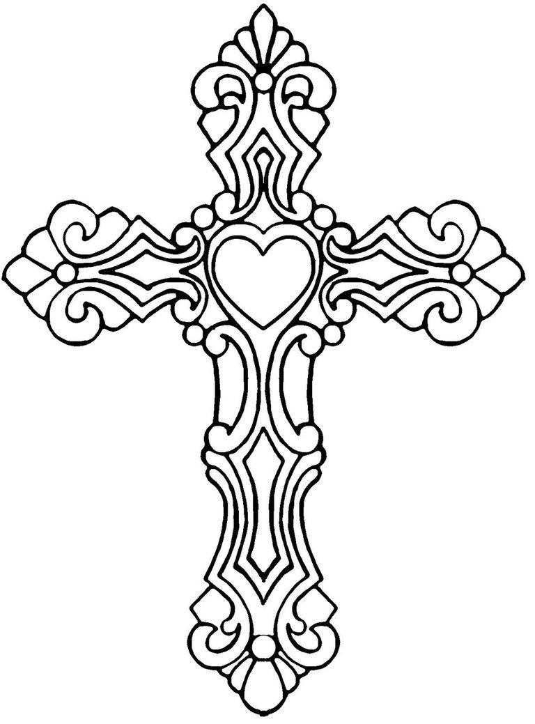Drawn hearts crosses My tat Cross tattoos Cross