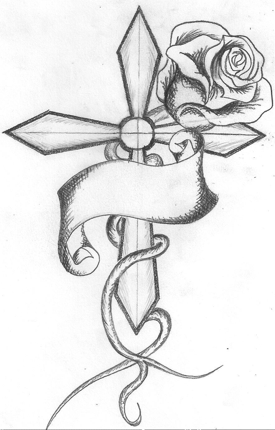 Drawn hearts crosses Download Art High Clip Art