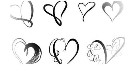 Drawn hearts outline For Designs Valentine Sets Heart