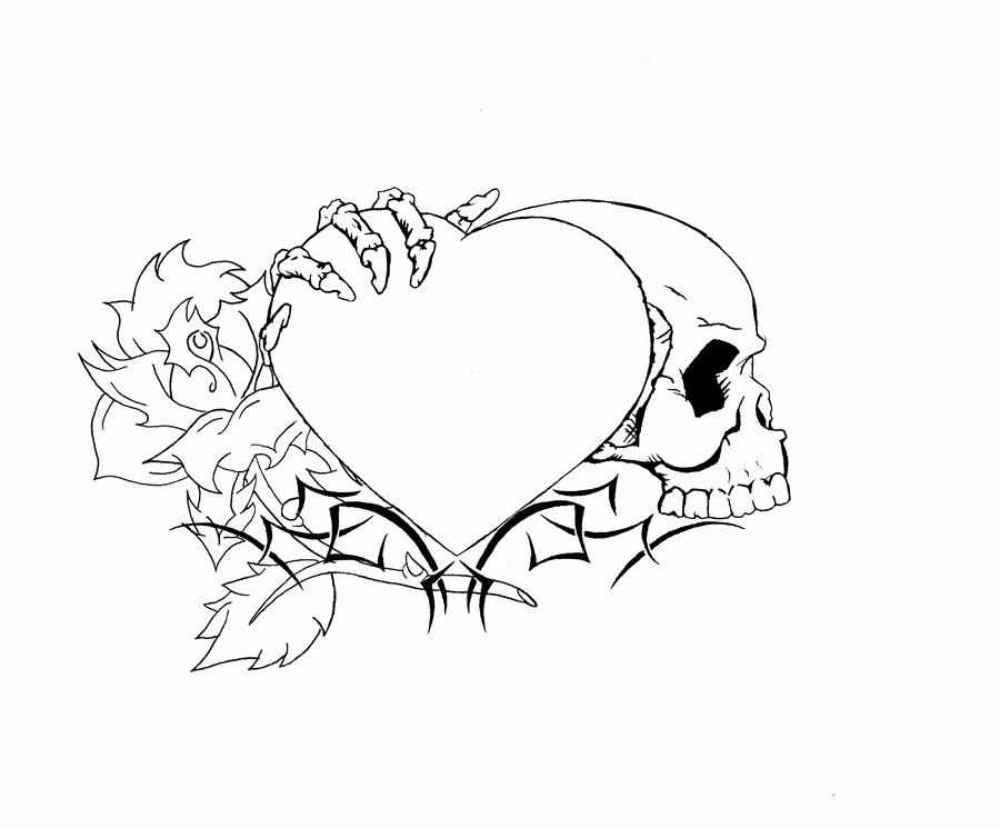 Drawn skull heart Jpg Tattoo Heart danielhuscroft 23479439869efc44bb9208016f2ac825