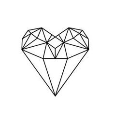 Drawn hearts diamond Deep heart Pinterest Skin Beauty