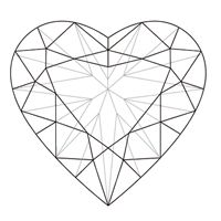 Drawn hearts diamond Png shaped Best on drawing
