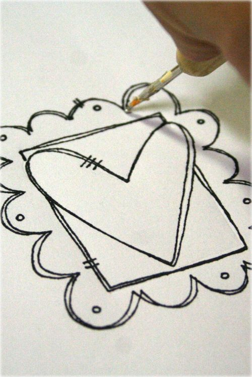 Drawn hearts simple art 22 doodle Draw Draw more