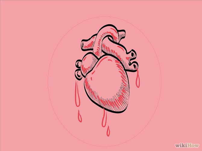 Drawn heart easy Draw Human Heart Draw Human