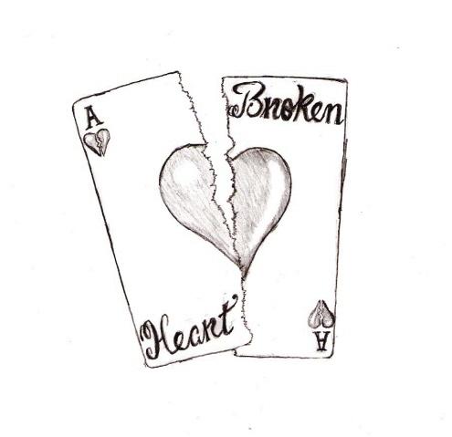 Drawn sad doodle Heart Sad Heart Art heart