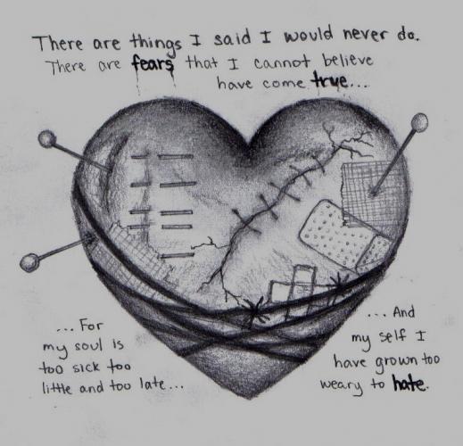 Drawn heart emo Drawing Drawing Amazing Realistic Art
