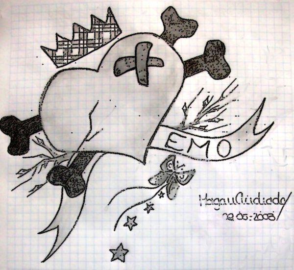 Drawn heart emo Drawing Pic Drawing Realistic Art