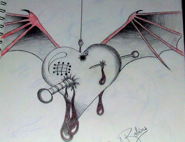 Drawn heart emo Drawing Drawing Best Realistic Art