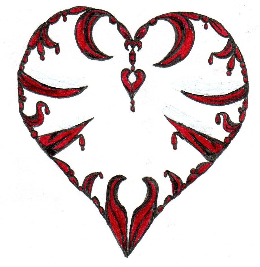 Drawn heart emo  beatles4eva beatles4eva pictures heart