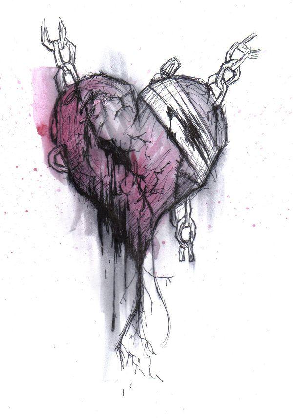 Drawn heart emo Emo Emo Pinterest Drawings CrypticNinjaFangirl