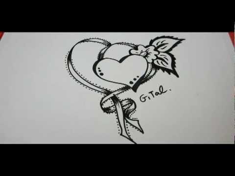 Drawn rose fancy Ribbon Draw  fancy Flower
