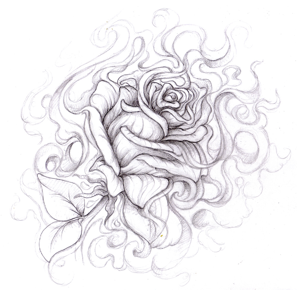 Drawn rose gangster Gangster Roses Roses Drawings
