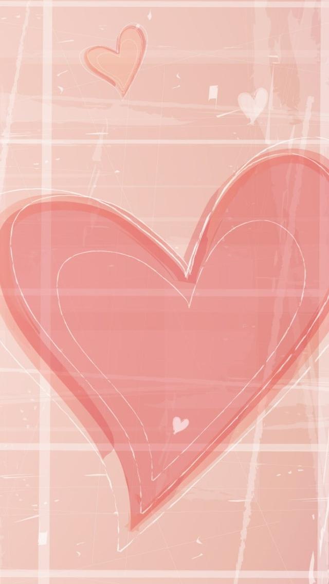Drawn heart light pink And hearts Wallpaper Pink Pink