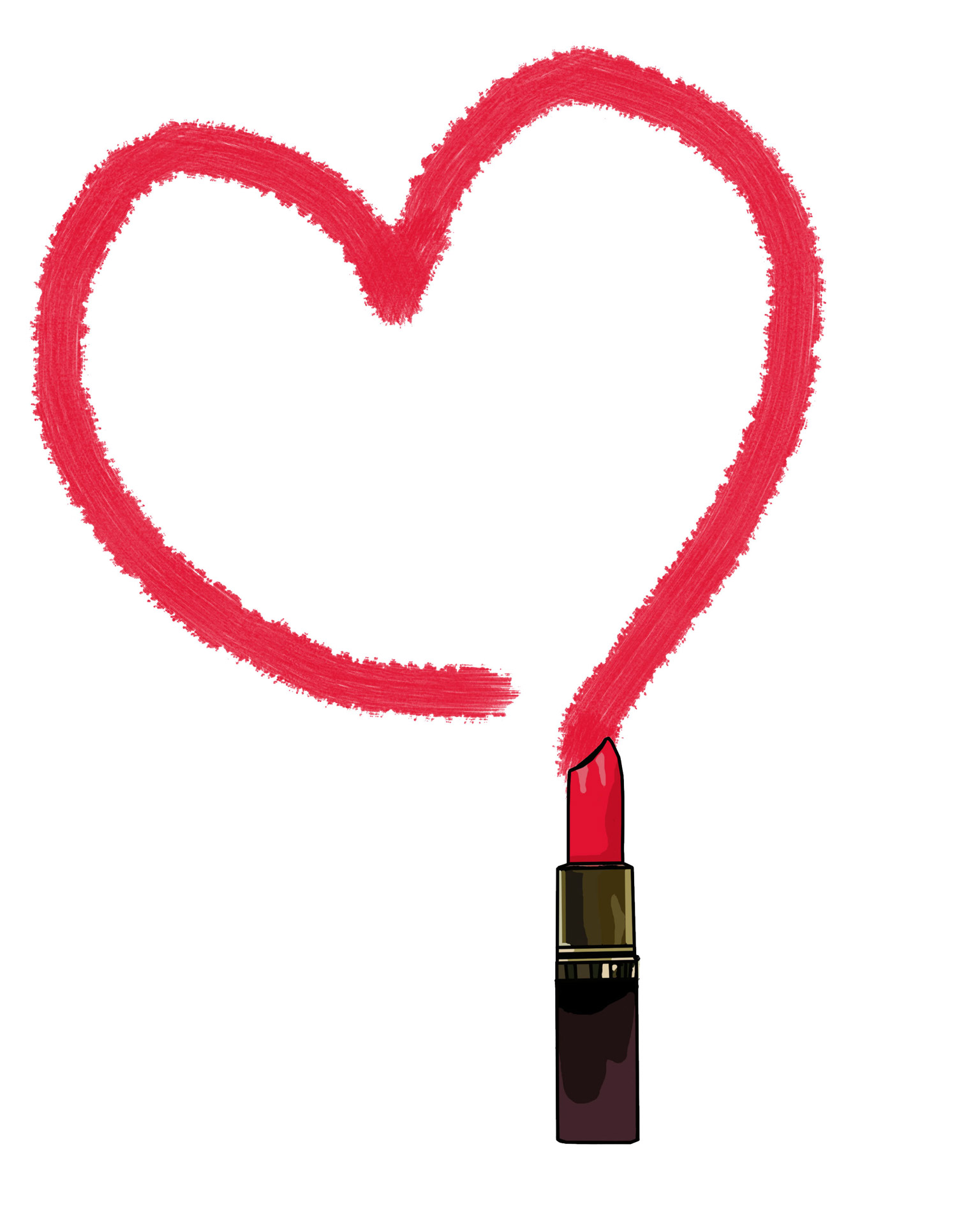 Drawn heart lipstick Free Drawn Domain Public Lipstick