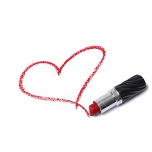 Drawn heart lipstick With Heart drawn lipstick drawn