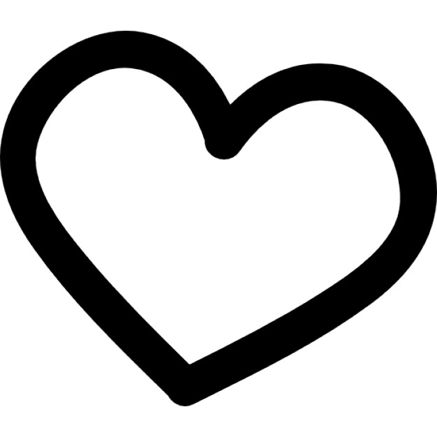 Drawn hearts outline Icon Heart Free Icons outline