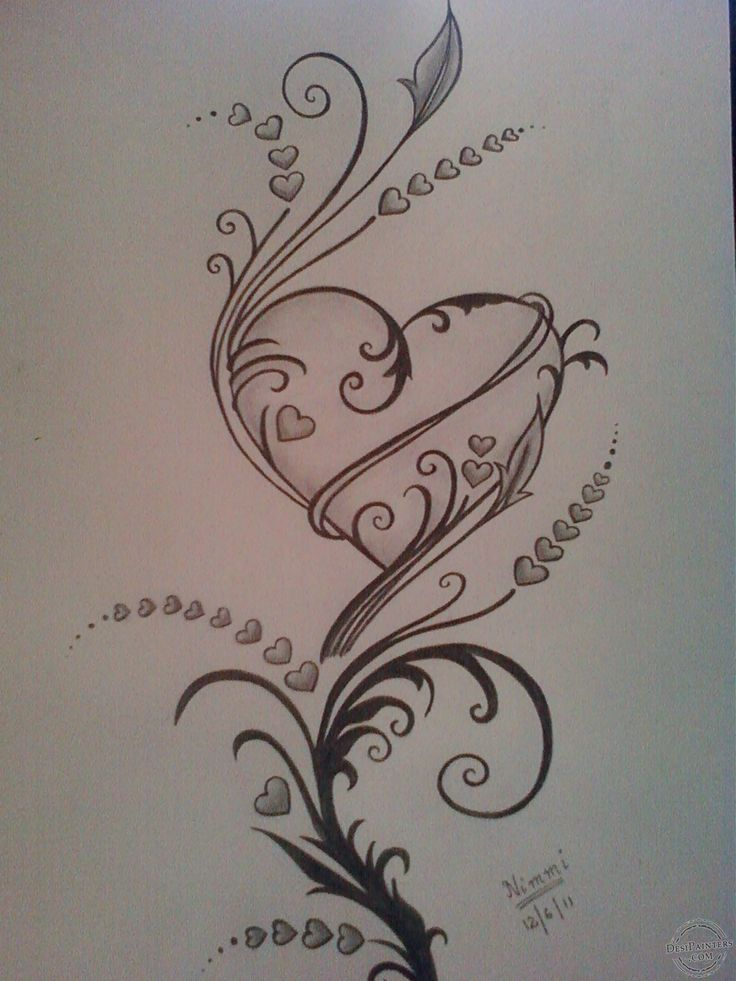 Drawn hearts pencil drawing The Pencil Pinterest Pictures Sketch
