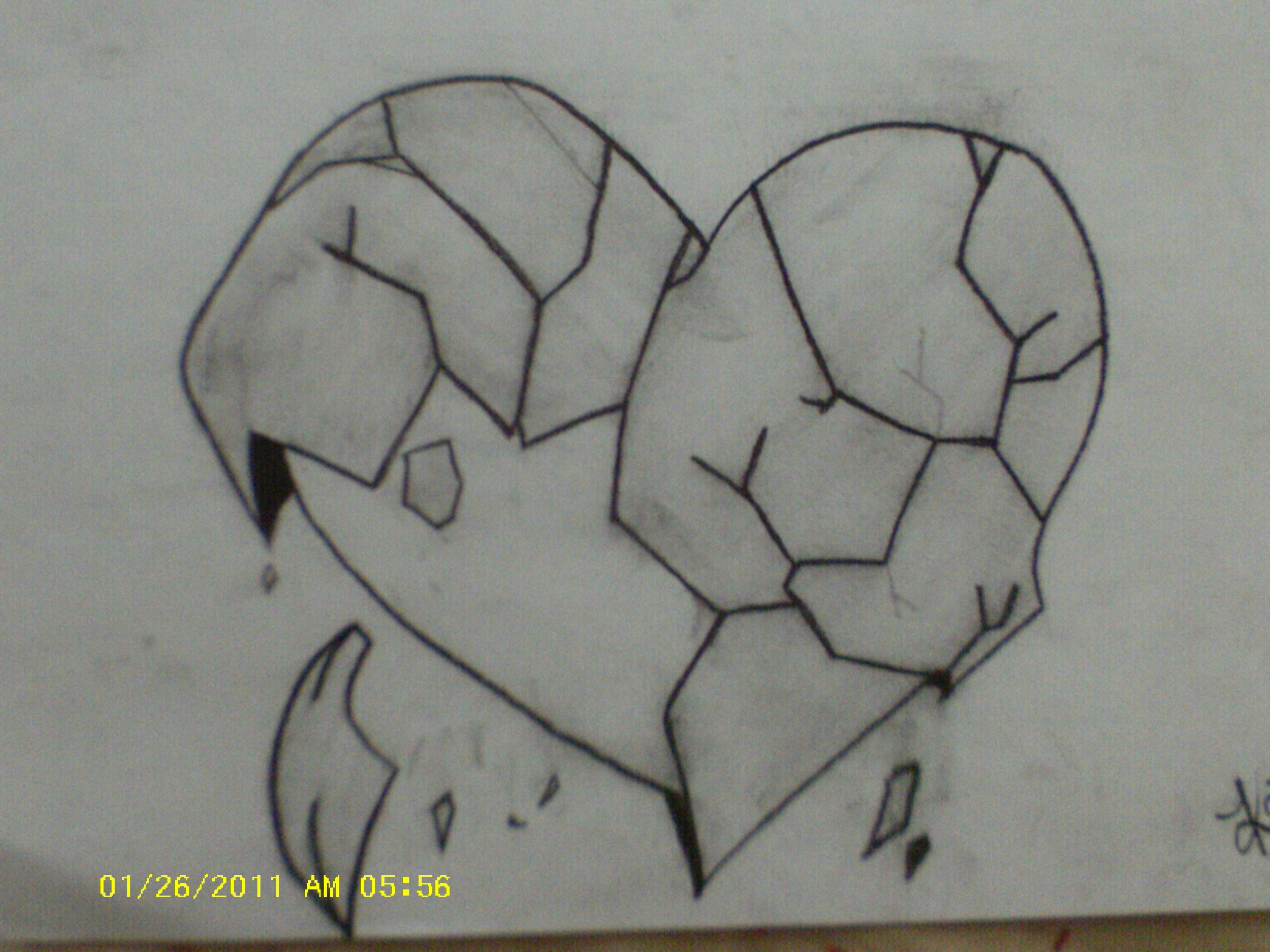 Drawn hearts pencil drawing Easy Easy Art  Broken