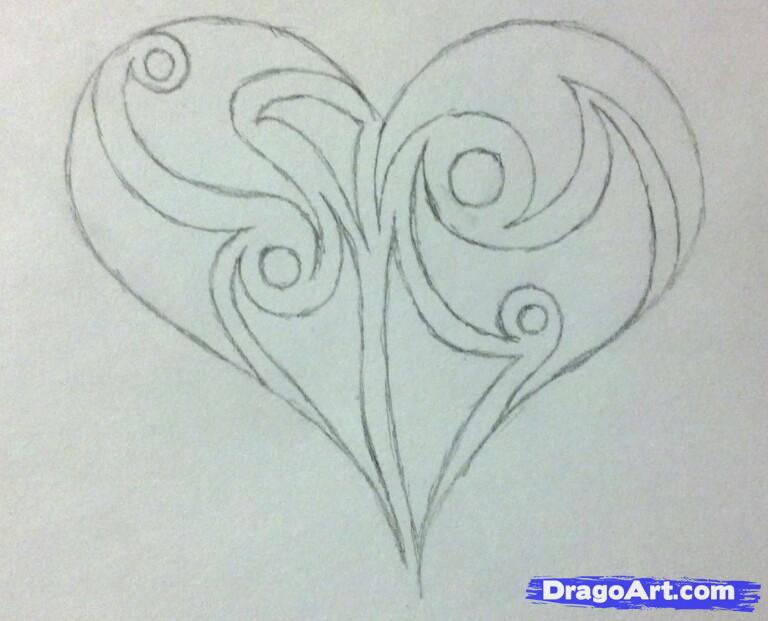 Drawn hearts pencil drawing IMAGE Drawings In Pencil Heart